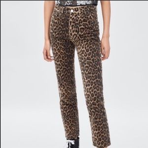 Zara Jeans - Zara Leopard Jeans